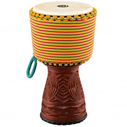 Meinl Artisan Edition Tongo Carved Djembe, Colored Rope Wrap
